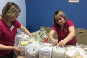 Еда для врачей хосписа в Бутово